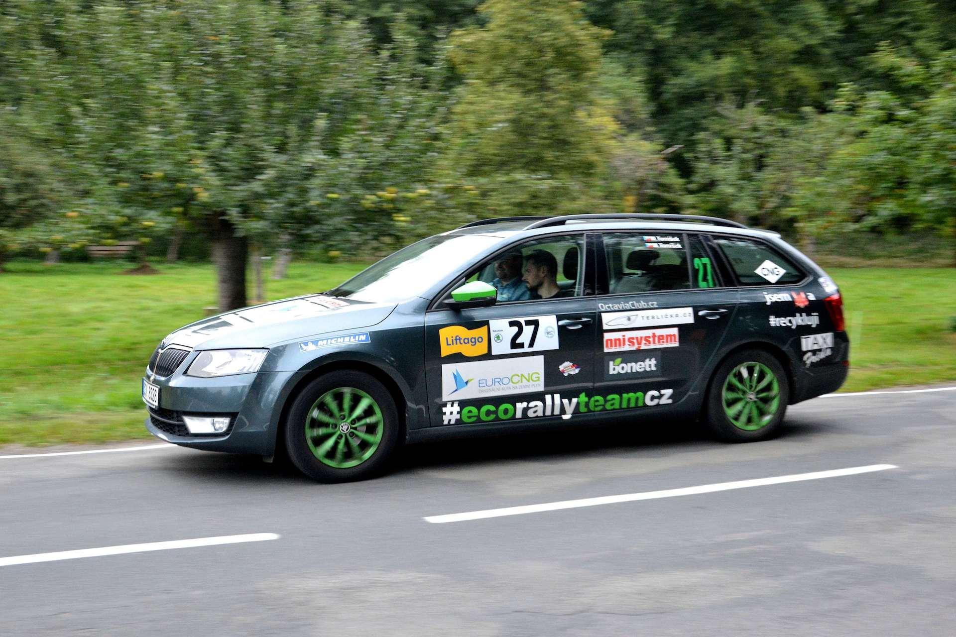 Škoda Octavia Combi G-TEC #EcoRallyTeamCZ